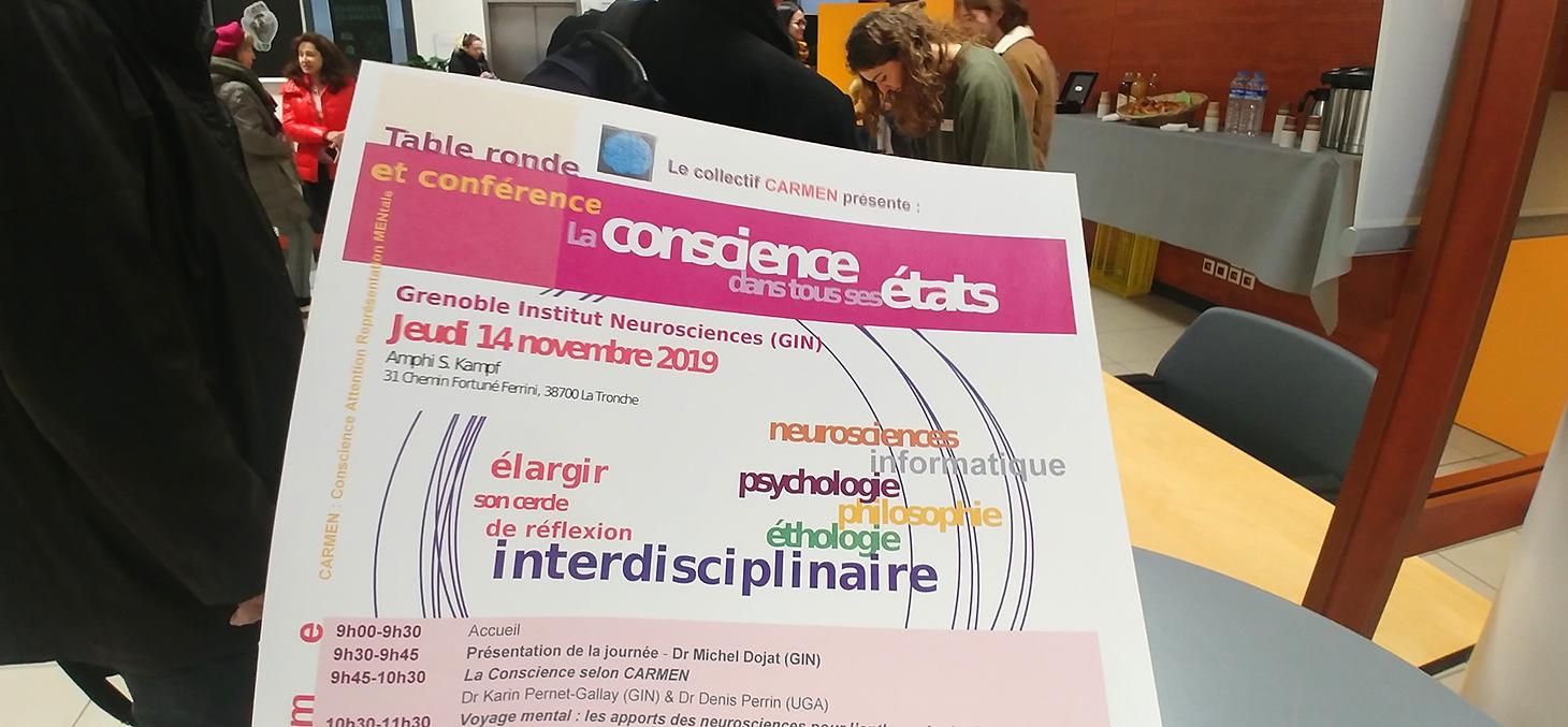 Premier colloque pluridisciplinaire sur la conscience organisé par le collectif CARMEN