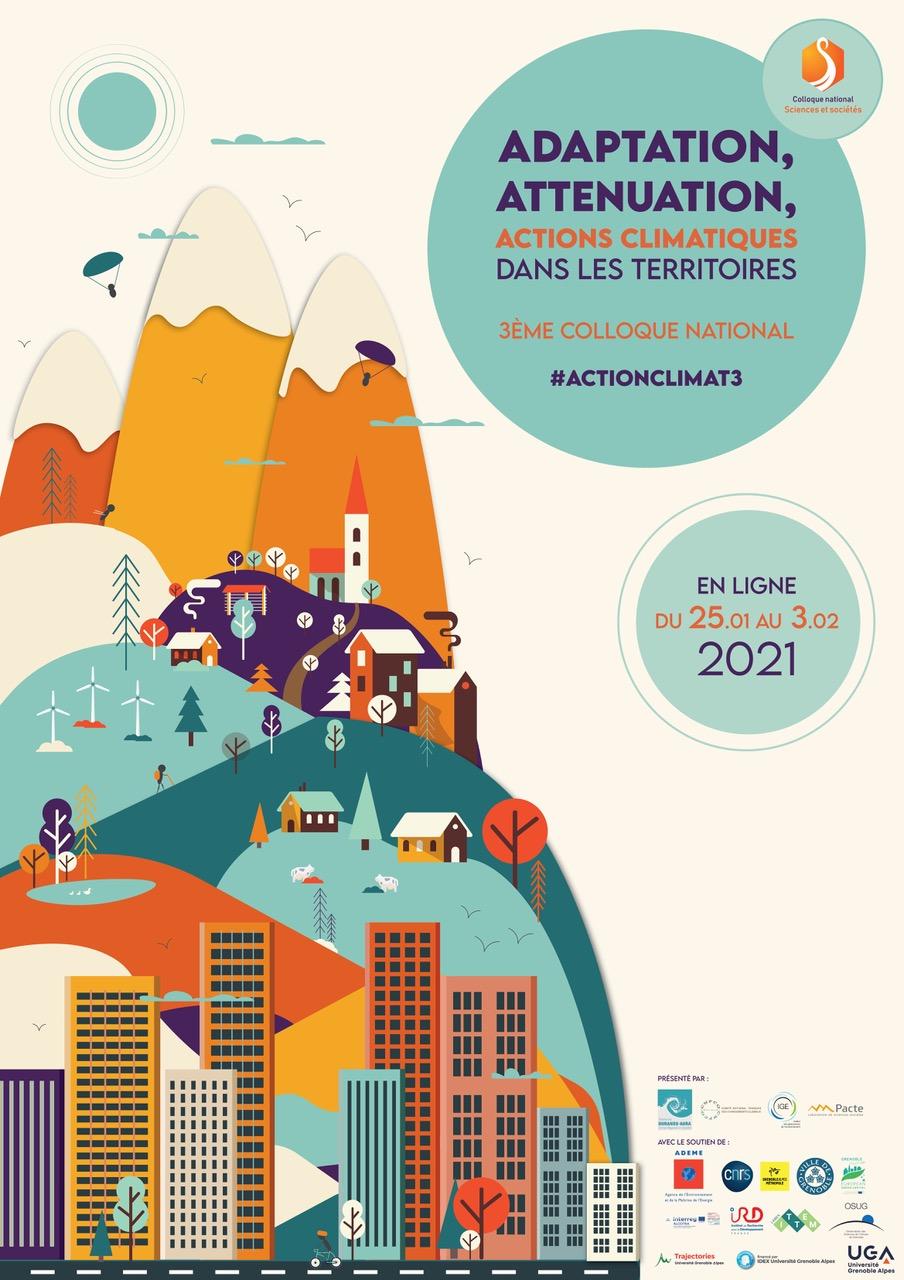Adaptation, atténuation, actions climatiques pour les territoires - 3e colloque national