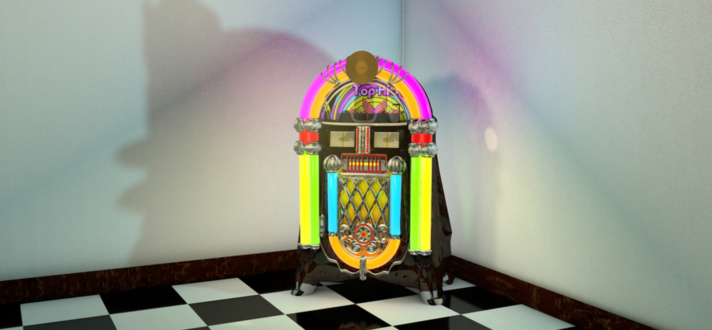 3D Computer rendered illustration of Jukebox ©suzi44 / Shutterstock, Inc.