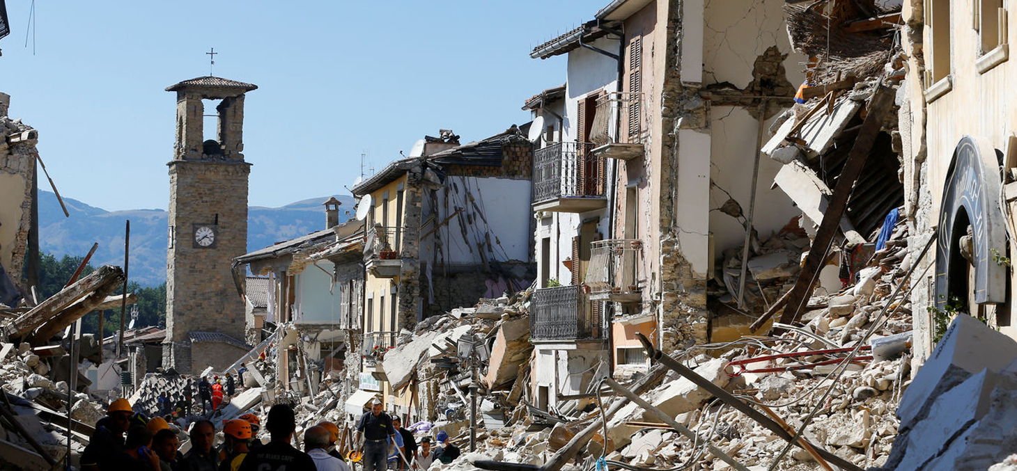 Amatrice in central Italy after the 6.2 earthquake that killed at least 252 people © Stefano Rellandini/Reuters
