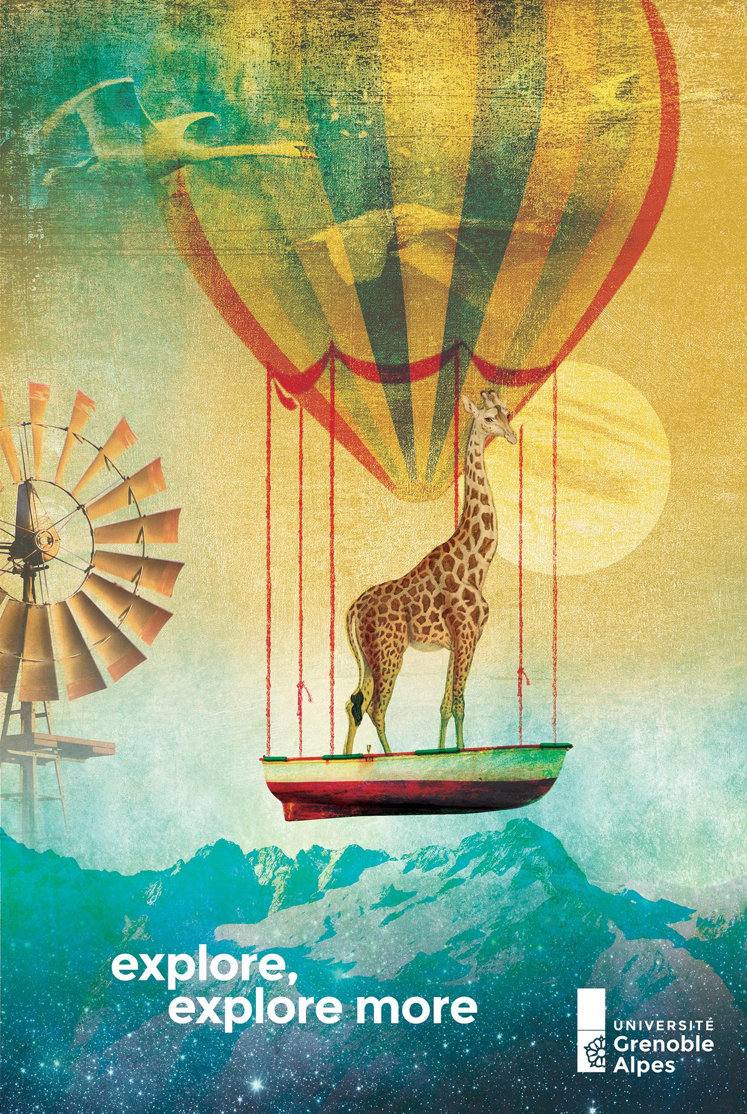 Affiche girafe