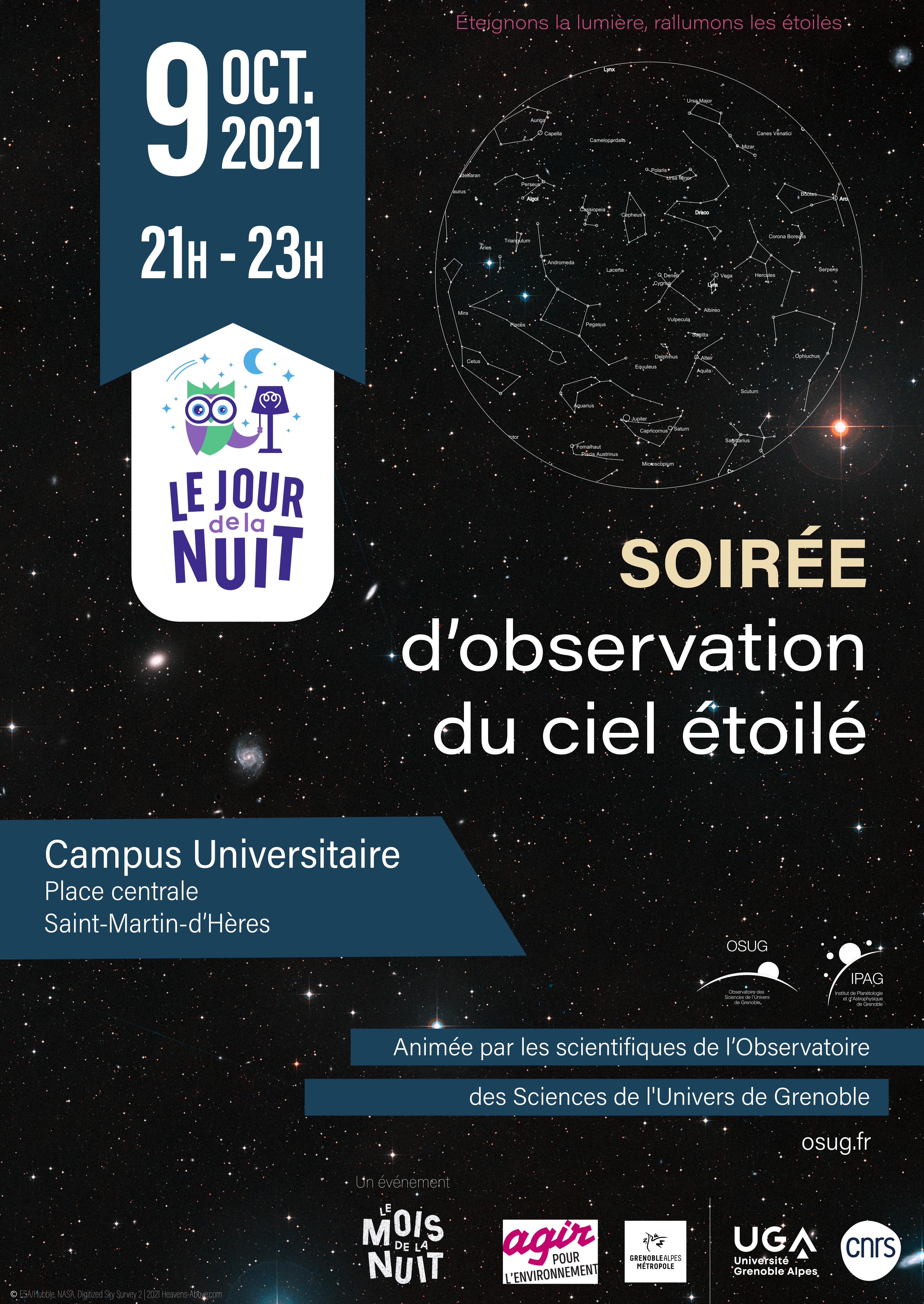 Soirée d'observation du ciel étoilé - Place centrale du campus universitaire