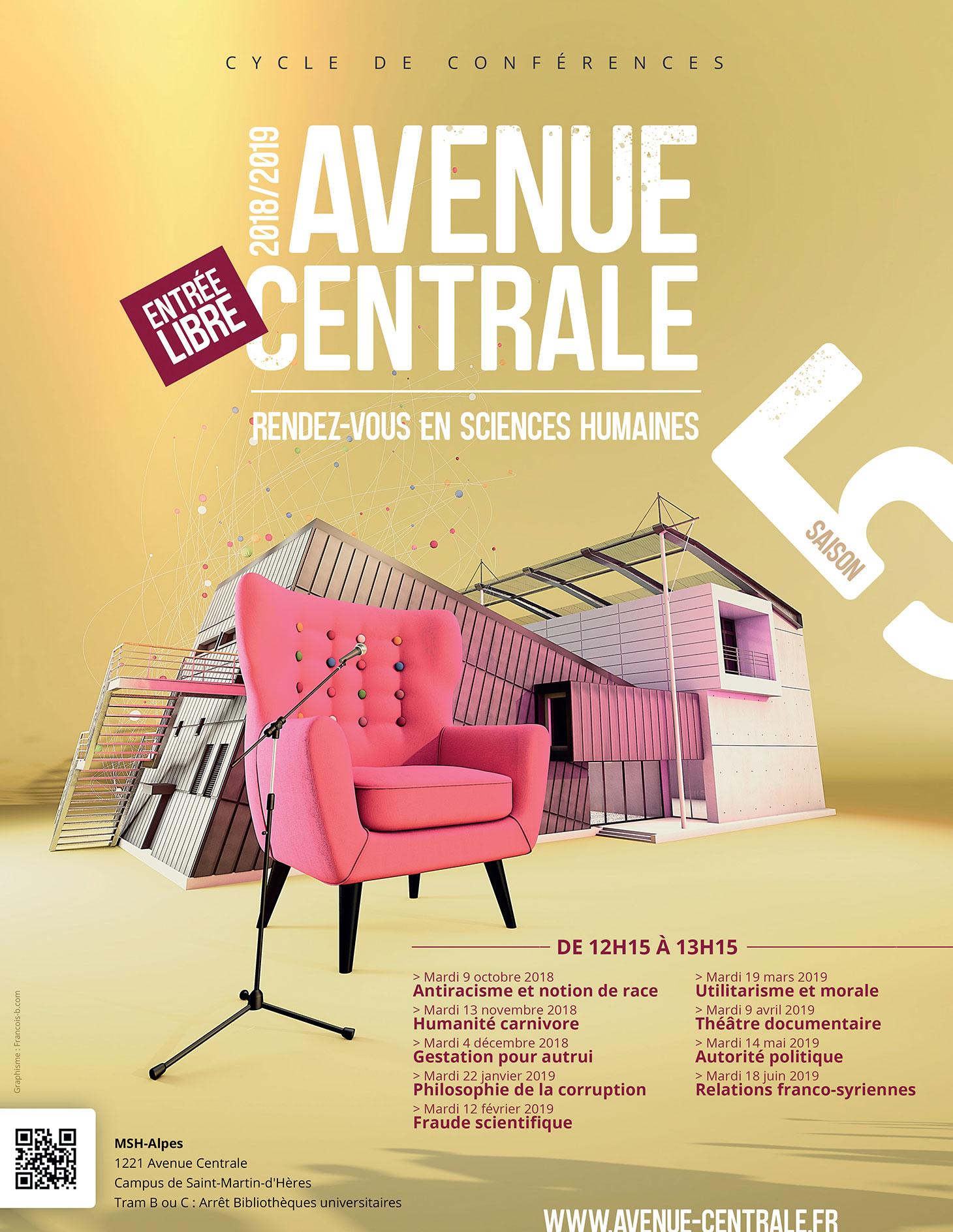Affiche Avenue Centrale - Saison 2018 / 2019