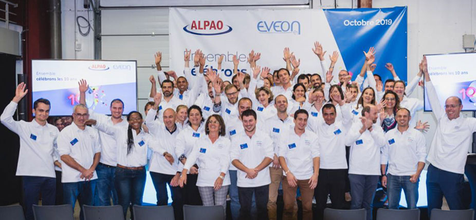 Les équipes ALPAO et EVEON. © EVEON