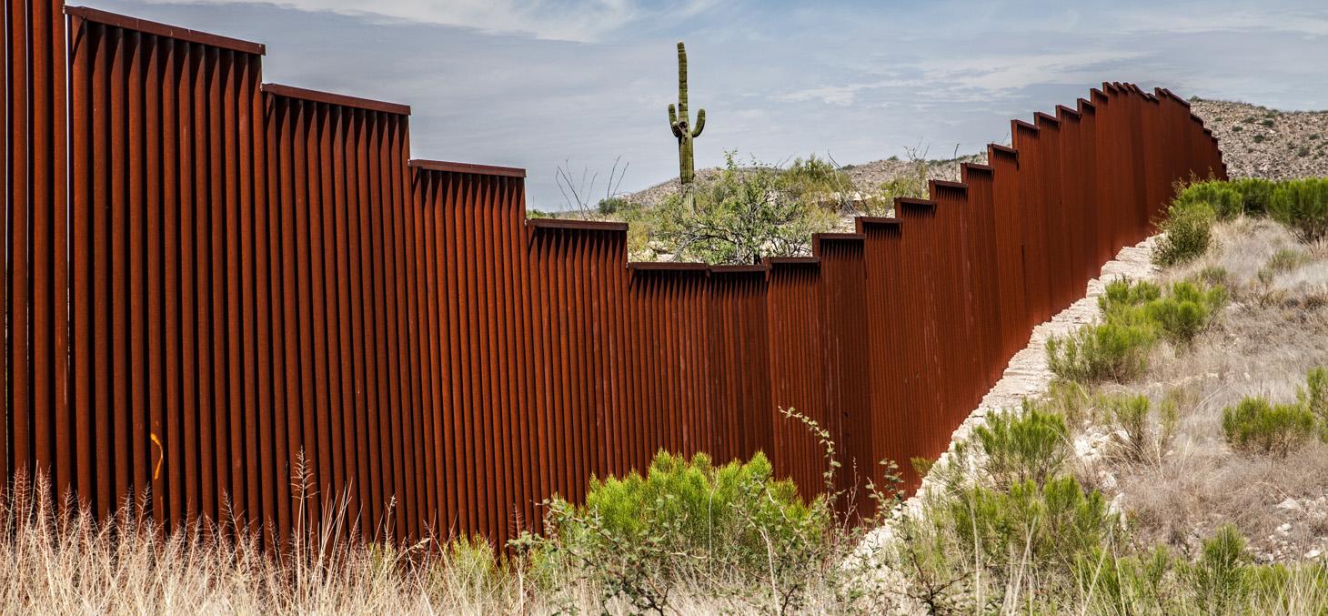 La frontière entre les Etats-Unis et le Mexique