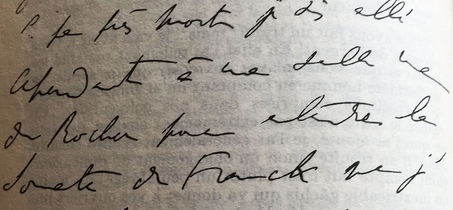 Extrait d'une lettre manuscrite rédigée par Marcel Proust