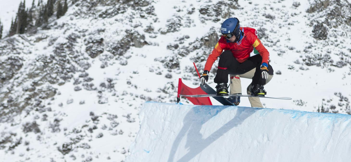 Léo Le Blé, médaille d'or en snowboardcross