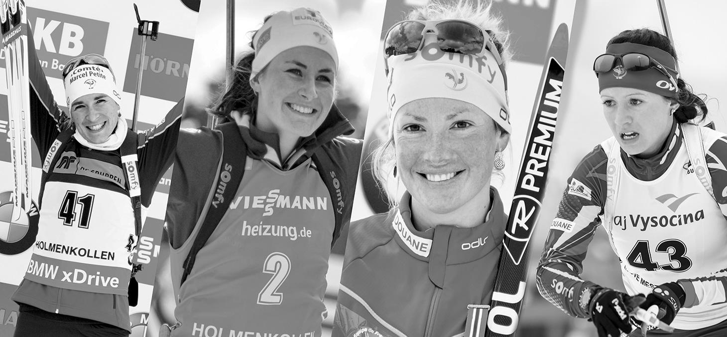 Anaïs Bescond, Justine Braisaz, Marie Dorin-Habert et Anaïs Chevalier © Shutterstock