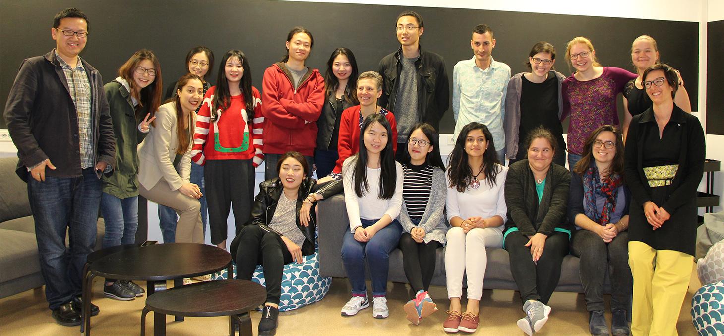 Les étudiants membres du groupe groupe