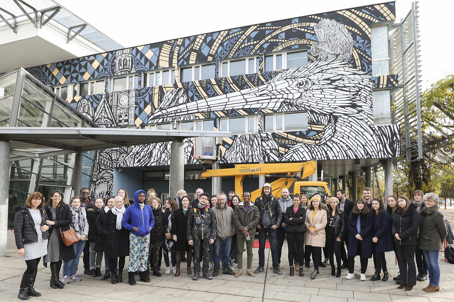Inauguration d'une fresque de street art