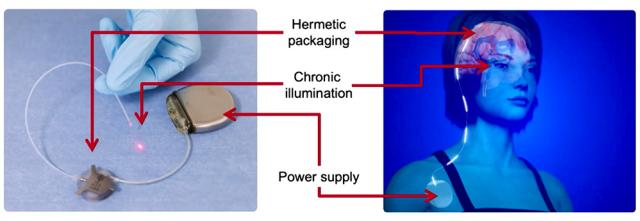 Implantation d'un dispositif NIR © CEA-Leti