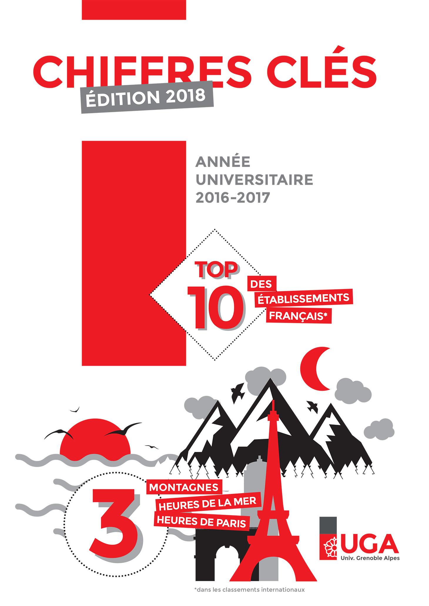 """Couverture de la plaquette """"Chiffres clés - Édition 2018"""""""