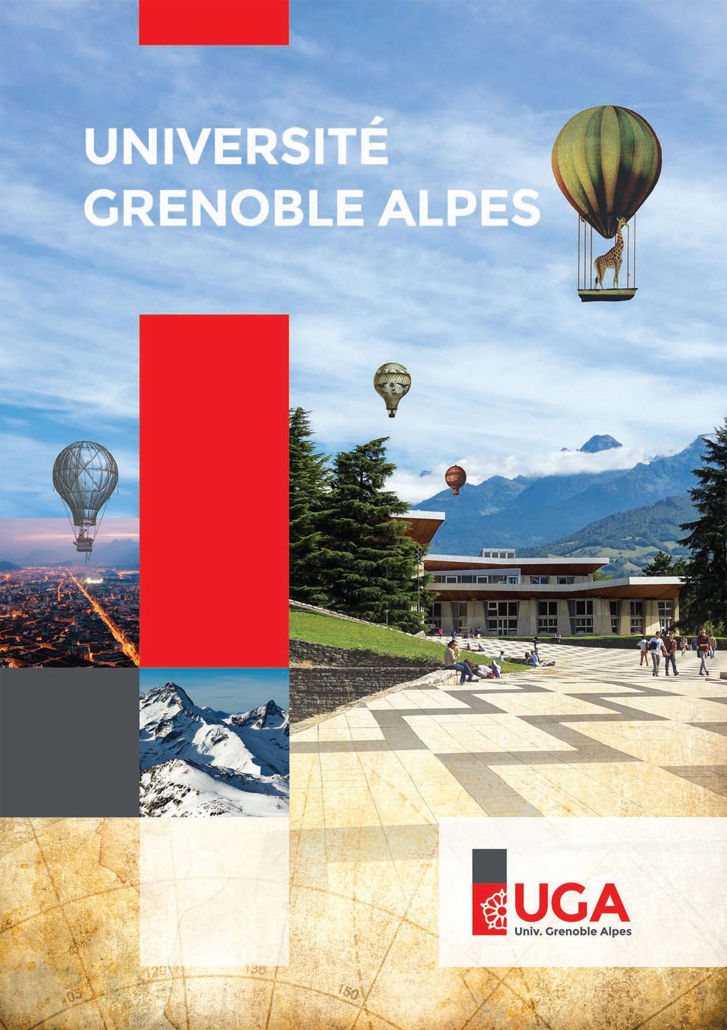 Couverture de la plaquette de présentation de l'Université Grenoble Alpes