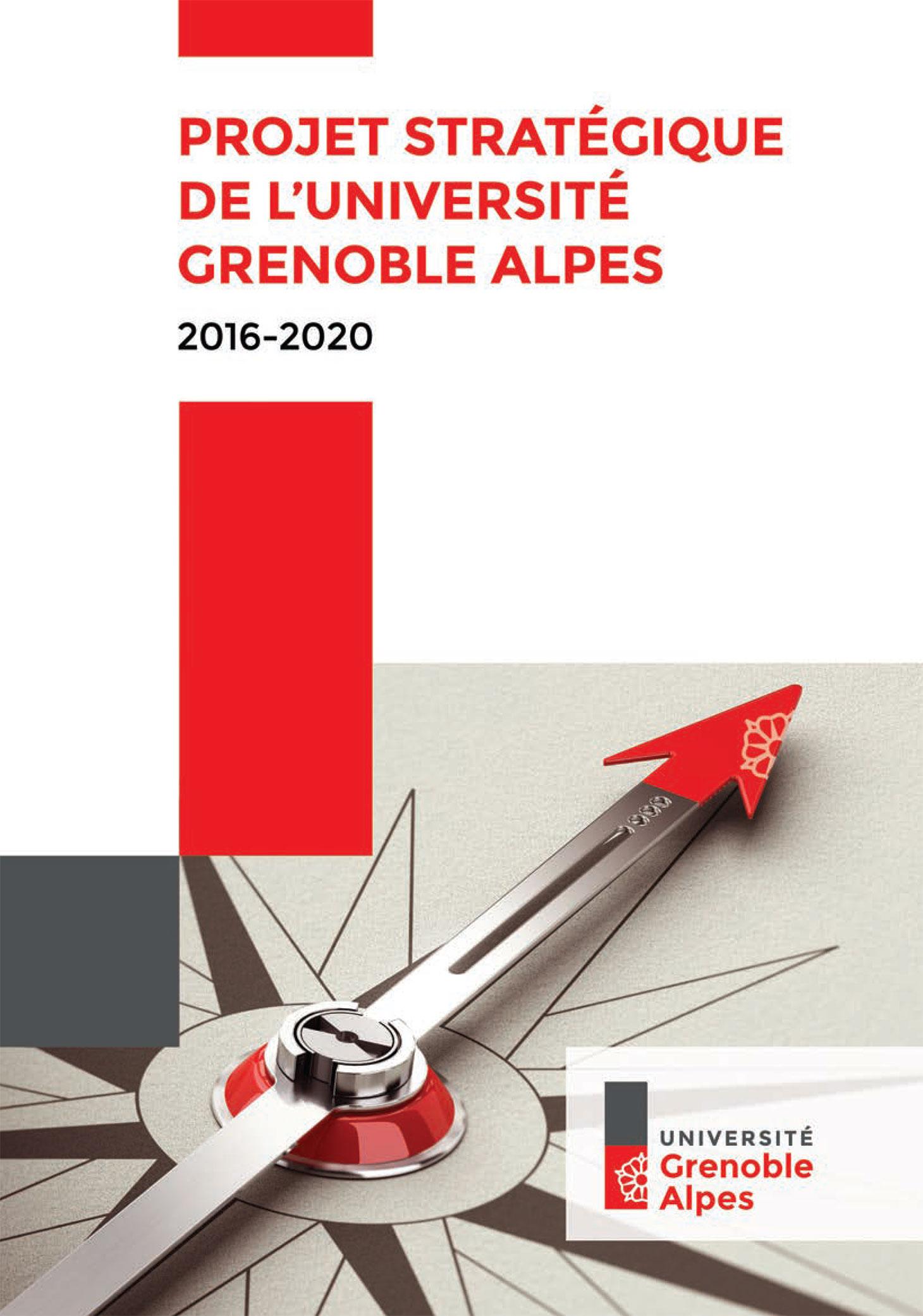 Couverture du livret présentant le projet stratégique de l'Université Grenoble Alpes
