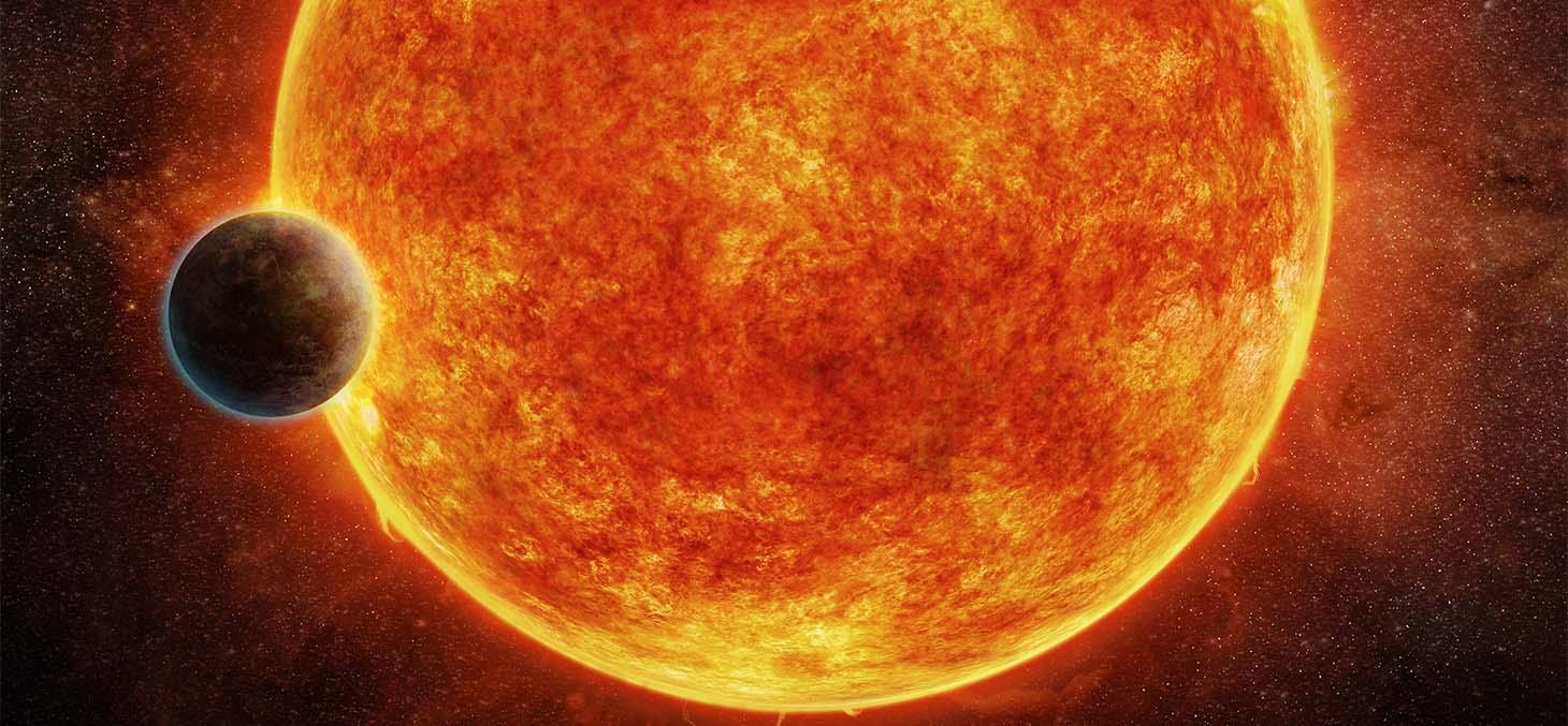 Vue d'artiste de l'exoplanète rocheuse nouvellement découverte, LHS 1140 © M. Weiss / CFA