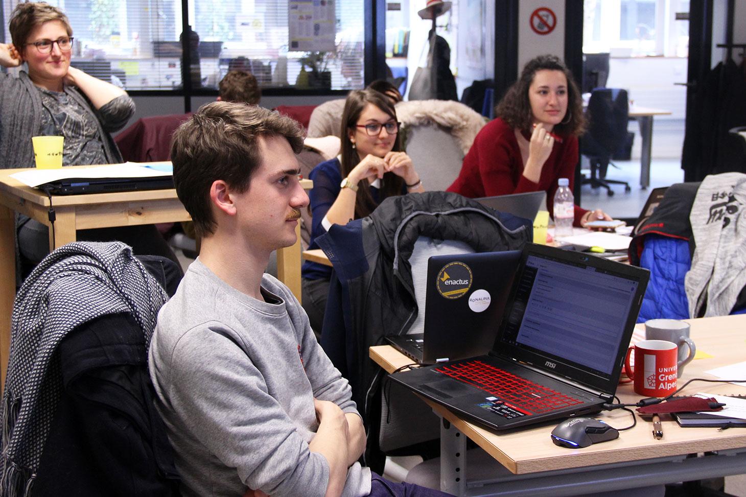 Les étudiants entrepreneurs à l'Université Grenoble Alpes.