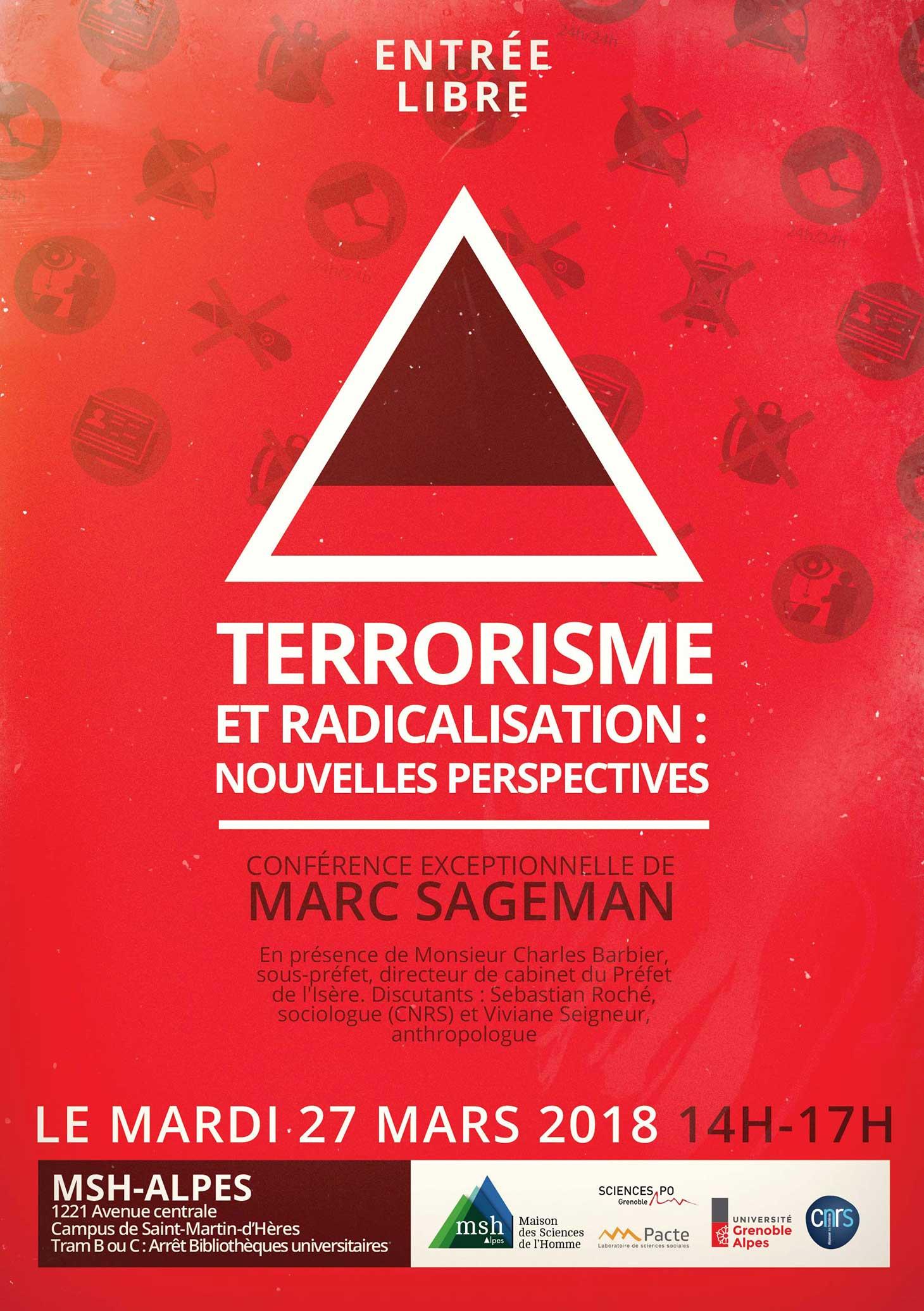 Affiche de la conférence terrorisme et radicalisation