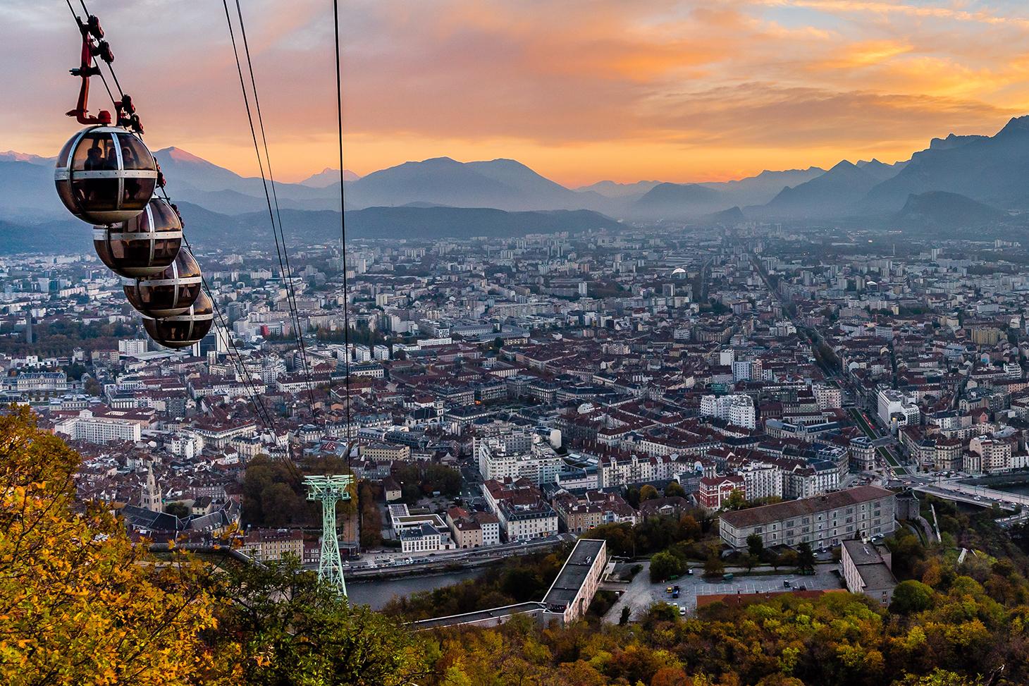 La ville de Grenoble vue depuis la Bastille