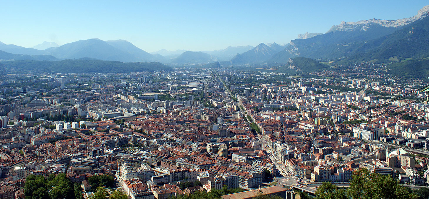La ville de Grenoble vue depuis La Bastille © Olivier Duquesne / Flick, CC BY-NC