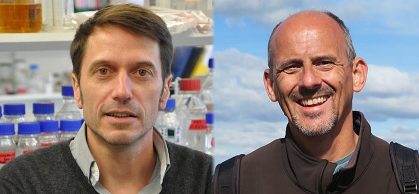 Frédéric Saudou et Peter van der Beek, enseignants-chercheurs UGA lauréats 2018 d'un ERC Advanced Grant
