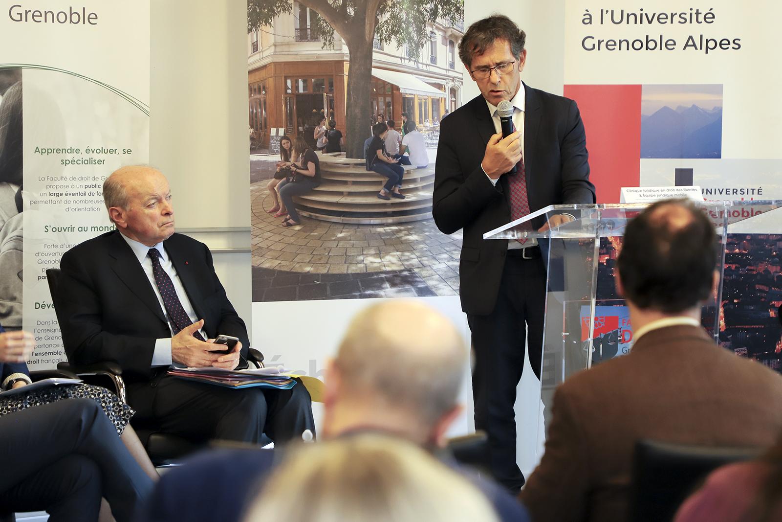 Jacques Toubon, Défenseur des Droits, et Patrick Lévy, président de l'UGA