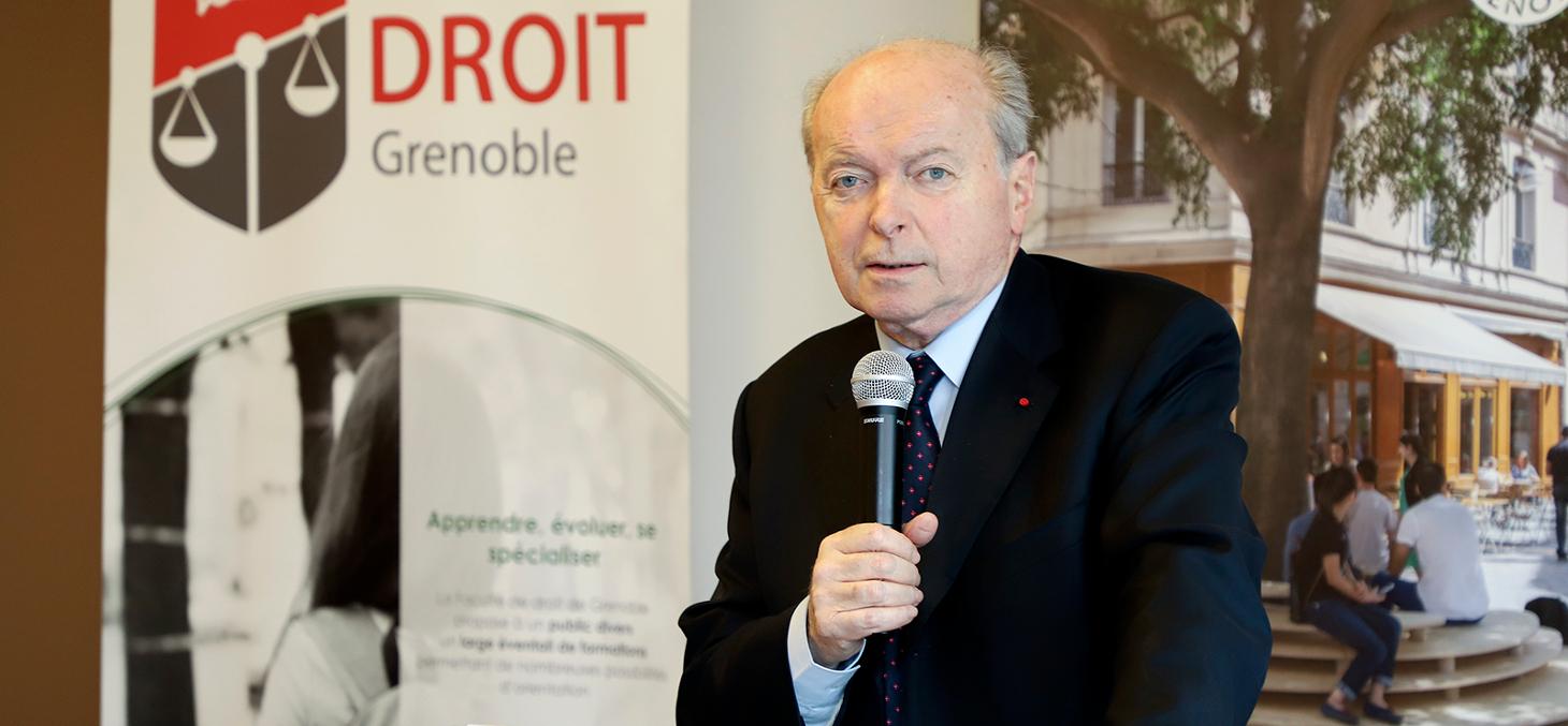 Jacques Toubon, Défenseur des Droits lors du lancement de la clinique juridique