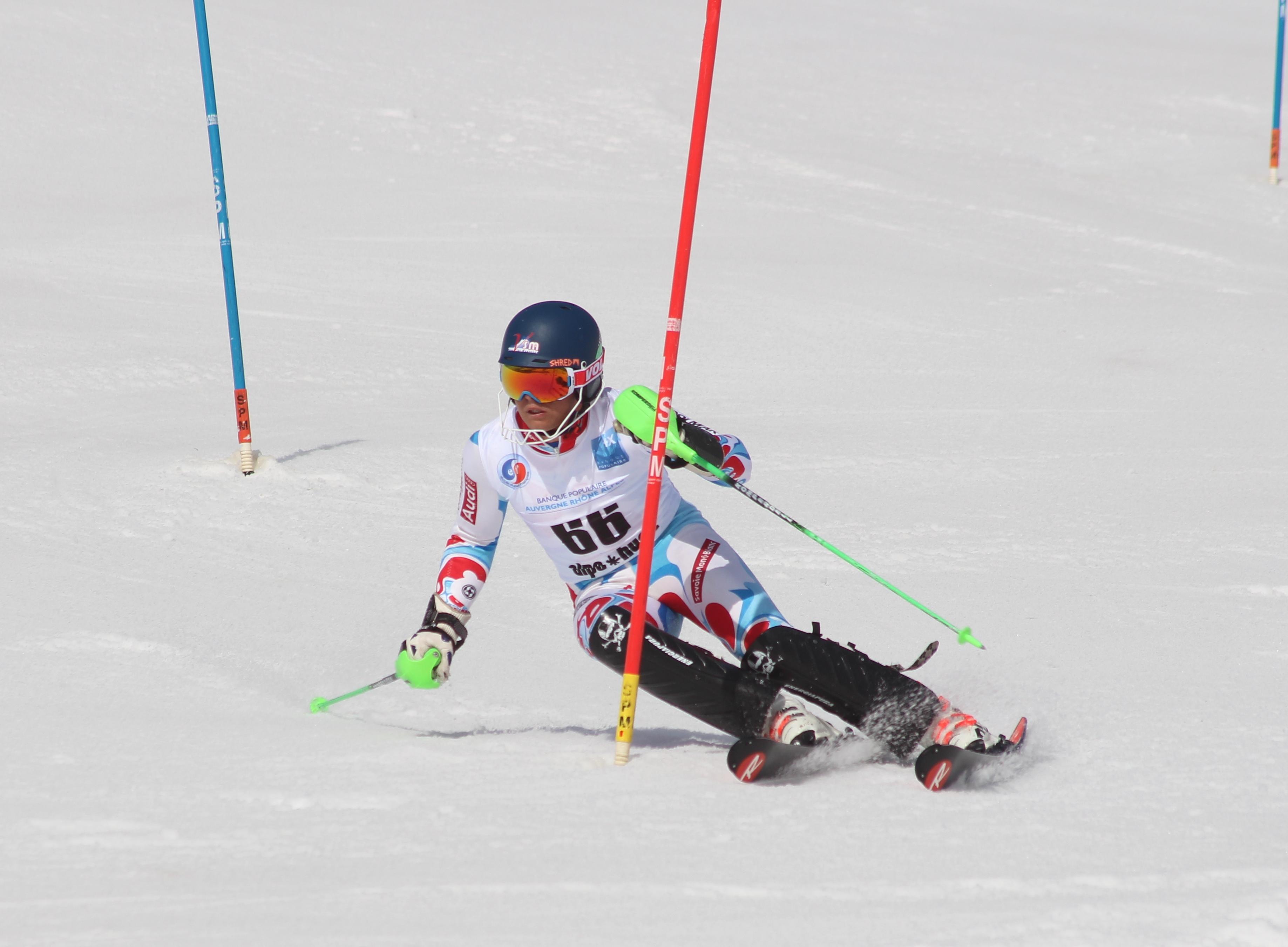 Joffrey Vanheule, médaillé en slalom