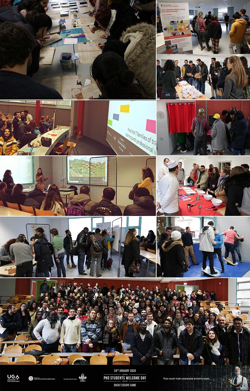 Photos de la 1ère journée d'accueil des doctorants de l'UGA