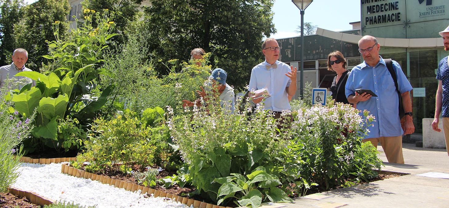 Visite du jardin médiéval des quatre humeurs - Jardin Dominique Villars - Juillet 2017