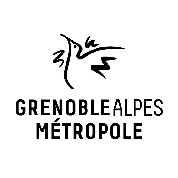 Logo Grenoble Alpes Métropole noir et blanc