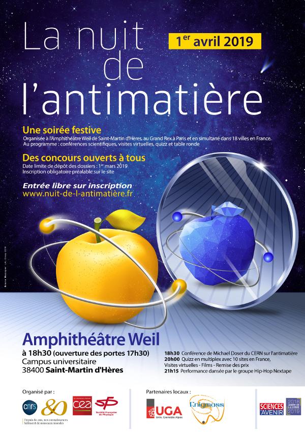 Affiche Nuit de l'antimatière