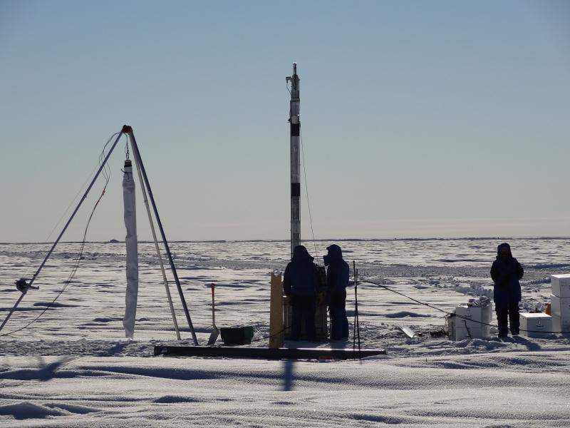 Site LOCK-IN en Antarctique central © Jérôme Chappellaz, CNRS/IGE/IPEV