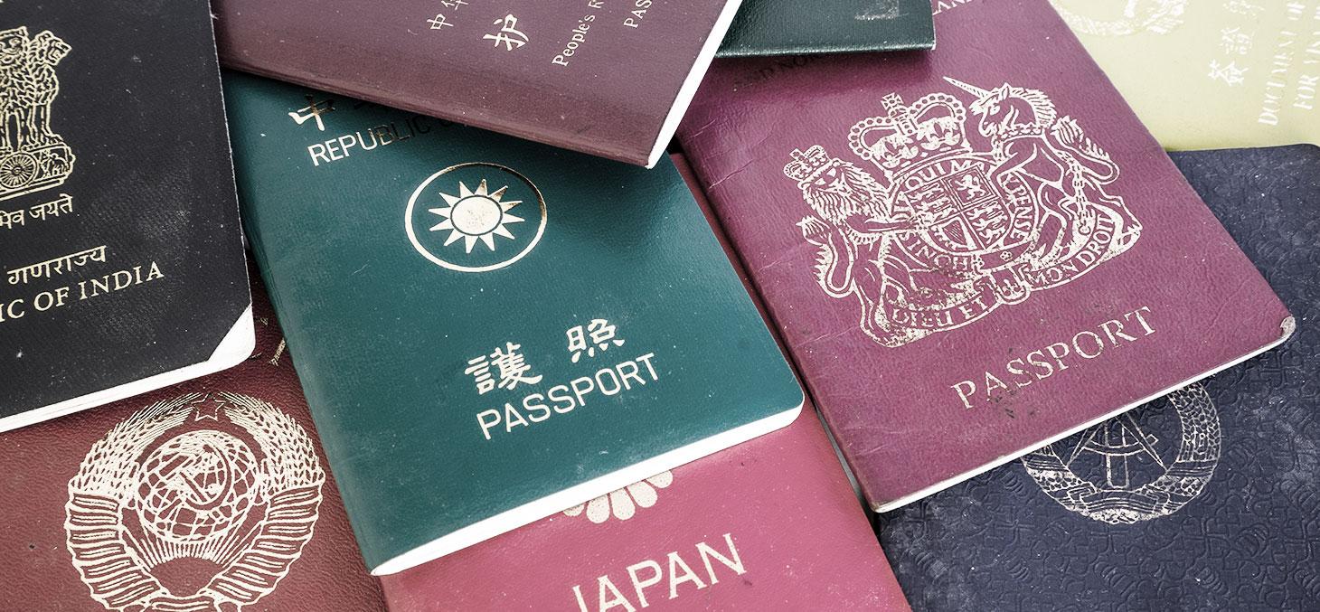 Passeports de différents pays