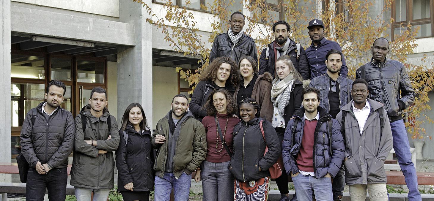 La troisième promotion des étudiants réfugiés © Thierry Morturier, Université Grenoble Alpes