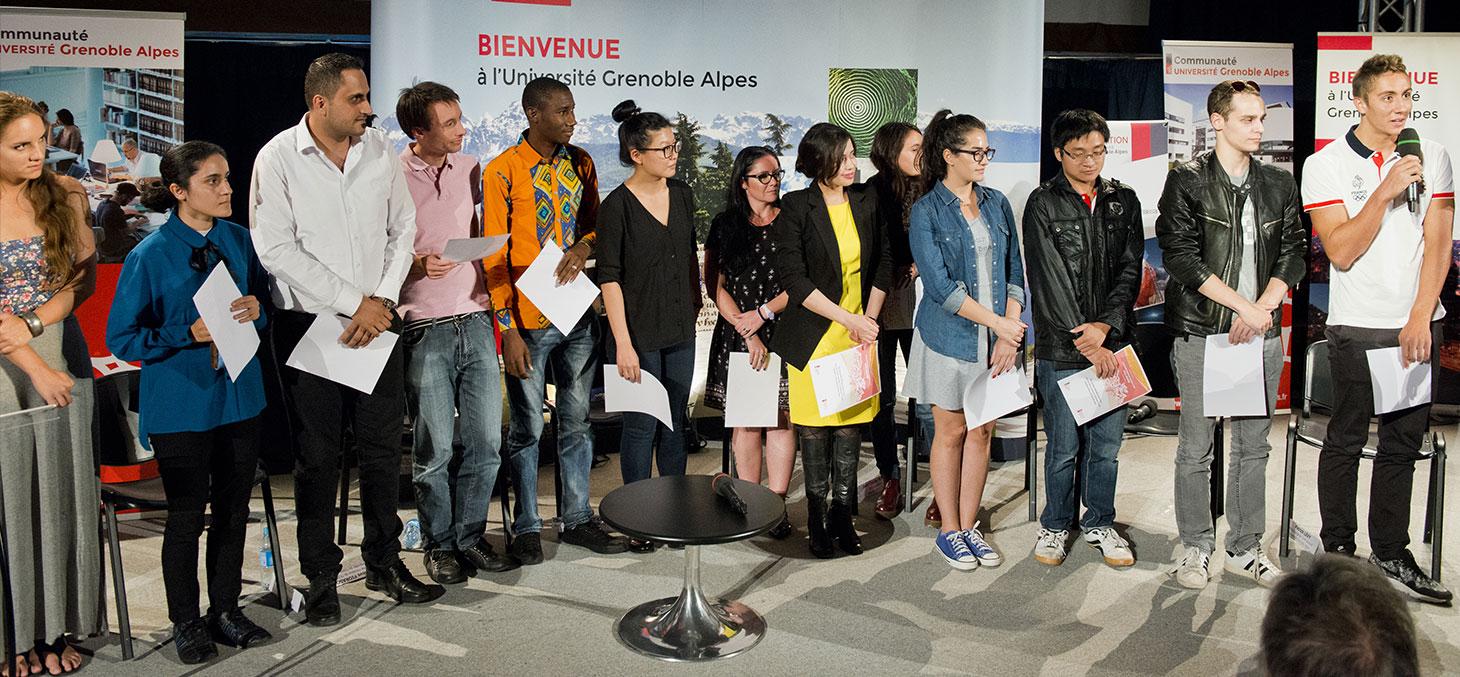 Les étudiants boursiers de la Fondation Université Grenoble Alpes