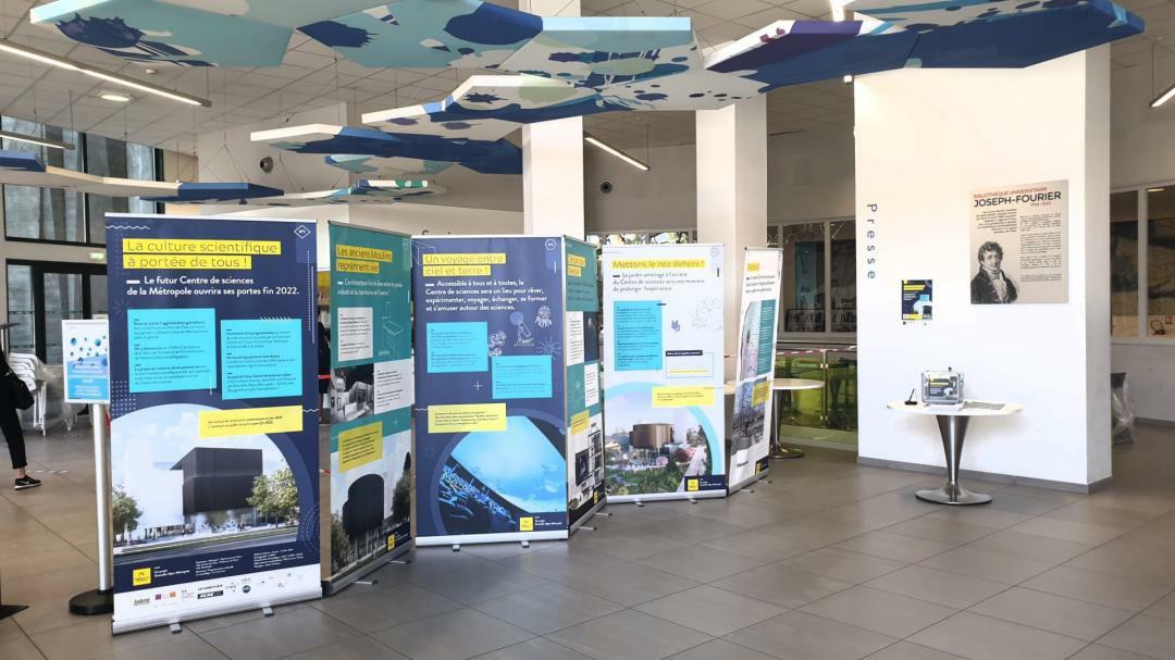 L'exposition dédiée à ce nouveau Centre de sciences présentée à la bibliothèque Joseph Fourier