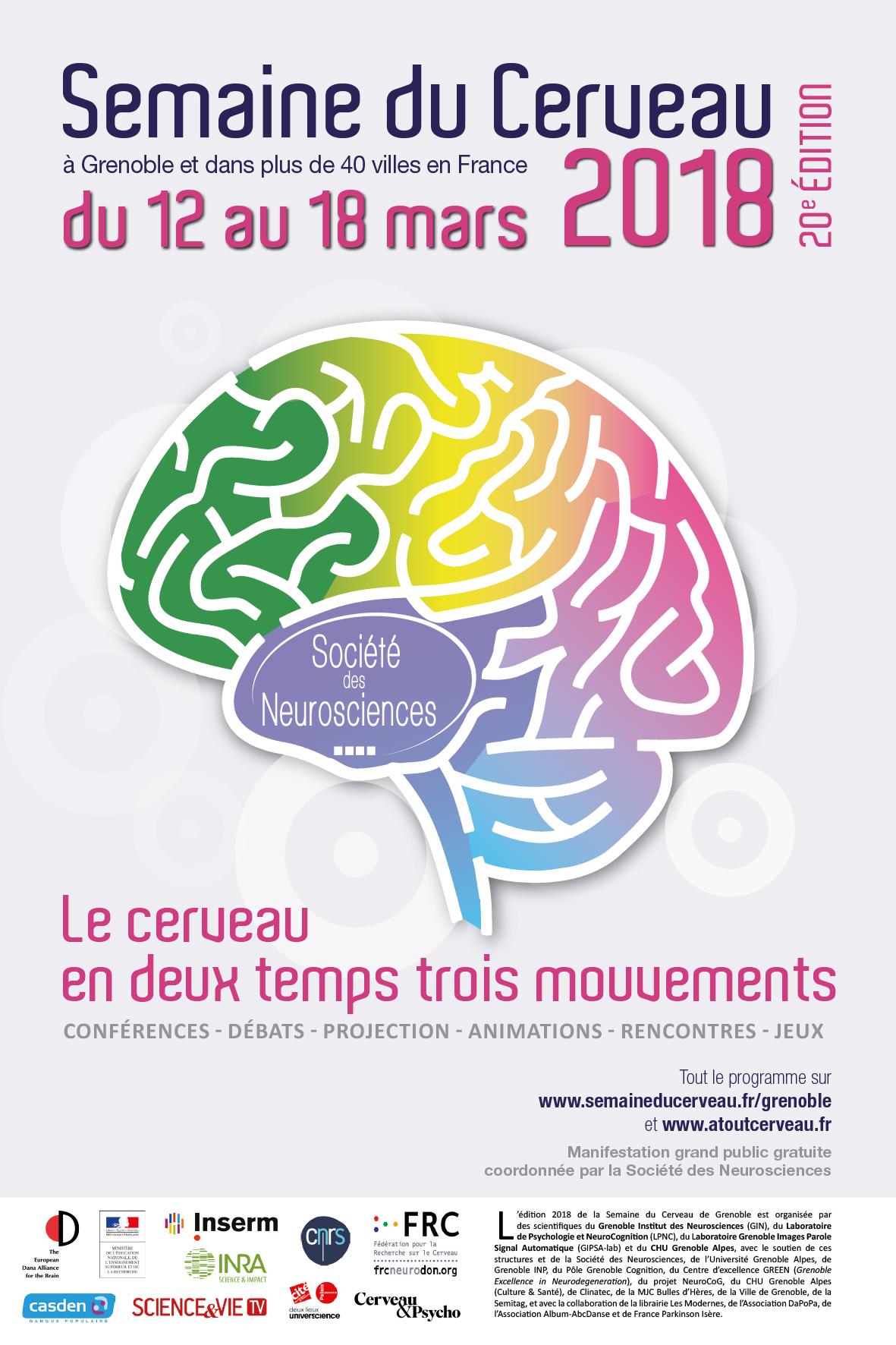 Affiche de la Semaine du cerveau 2018