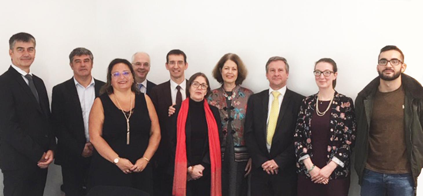 Délégation de l'UGA en mission à l'Université de Kent