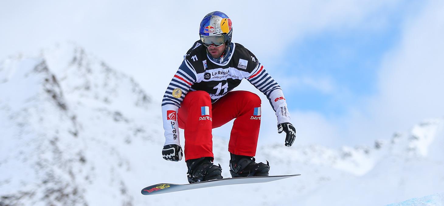 Pierre Vaultier champion olympique en titre de snowboard cross© Laurent Salino - Agence Zoom
