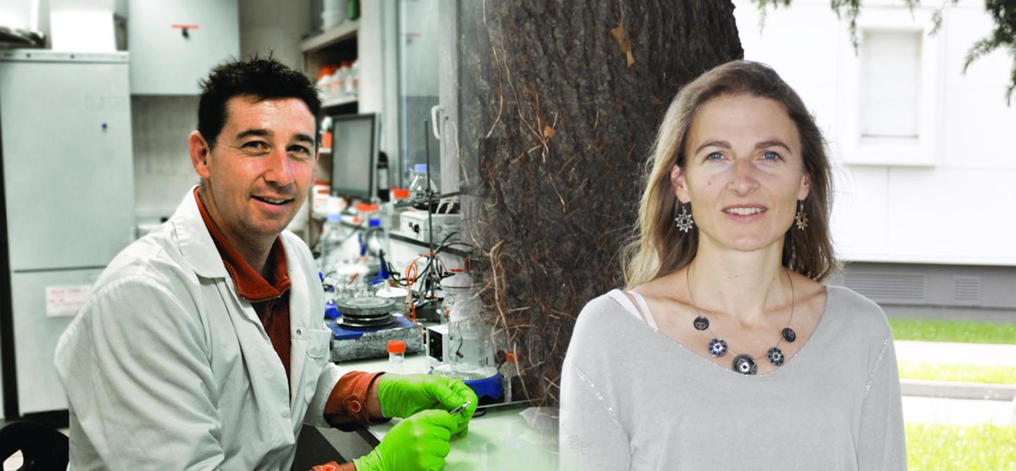 Jean-Pierre Alcaraz et Léonie Canet, Talents CNRS 2018 © CNRS
